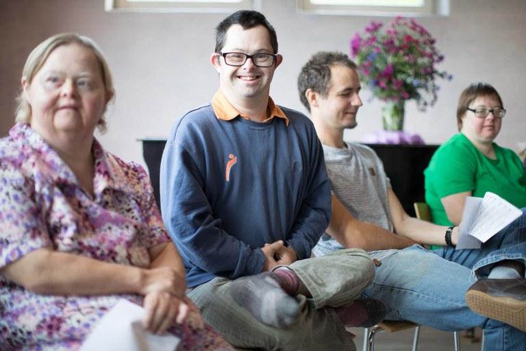 Saal im Loidholdhof zum inklusiven Zusammenleben